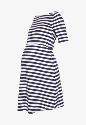 Jerseykleid - white/dark blue
