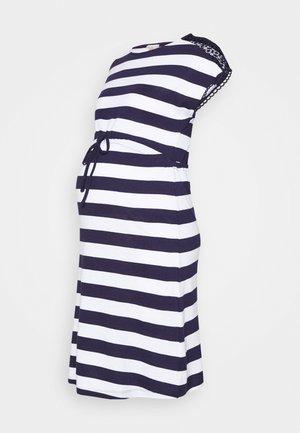 Žerzejové šaty - evening blue/white