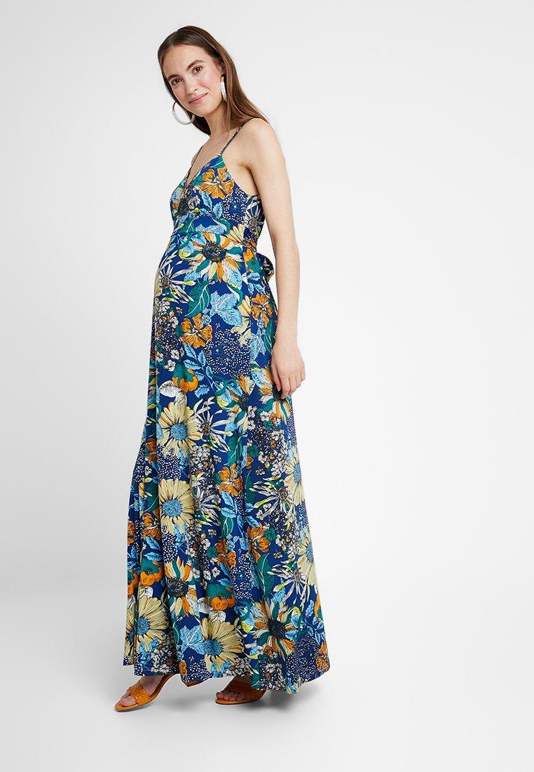 Anna Field MAMA - Maxi dress - blue/orange