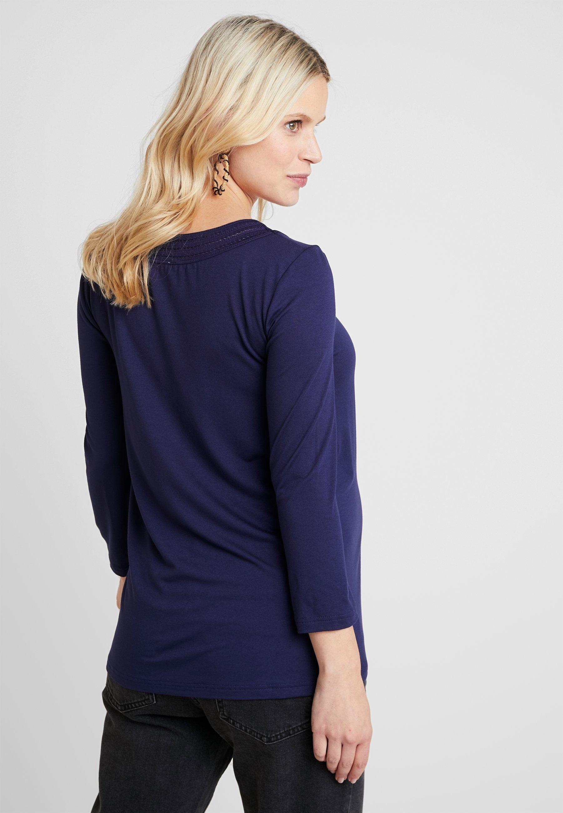 T dark blue Anna shirt Field à MAMA manches longues 4jRL3Ac5q