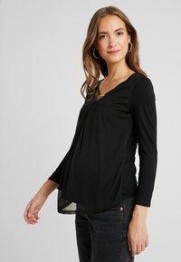 Anna Field MAMA - Långärmad tröja - black - 0