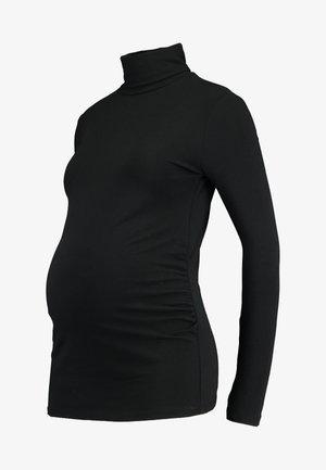 BASIC ROLL NECK LONG SLEEVES - Topper langermet - black