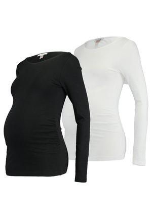 2 PACK - Camiseta de manga larga - black/white