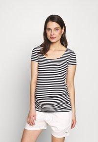 Anna Field MAMA - T-shirt z nadrukiem - black/white - 0