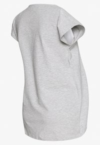 Anna Field MAMA - BASIC NURSING TOP - Print T-shirt - white/grey - 1