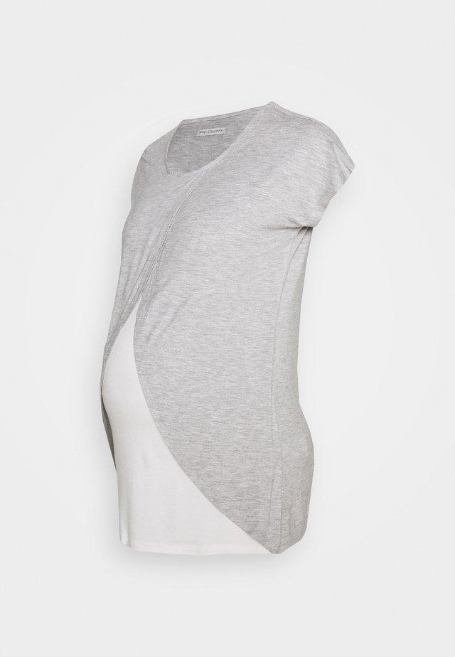 BASIC NURSING TOP - Print T-shirt - mid grey mélange