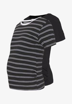 Print T-shirt - black/multicoloured