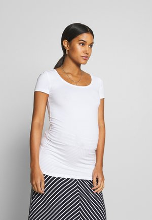 BASIC ROUND NECK 3 PACK - T-shirts - white/black/dark grey