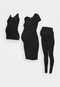 Anna Field MAMA - 3 PACK leggings - dress - nursing top - Legging - black - 0