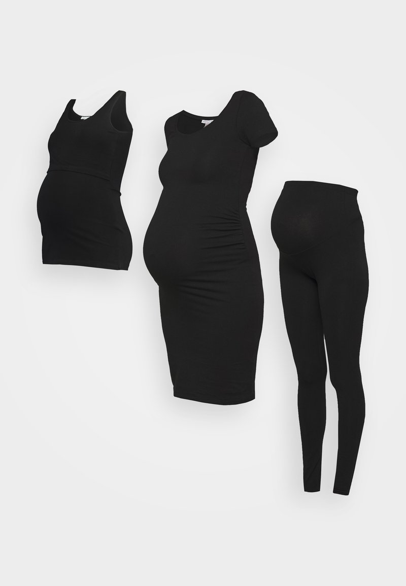Anna Field MAMA - 3 PACK leggings - dress - nursing top - Legging - black