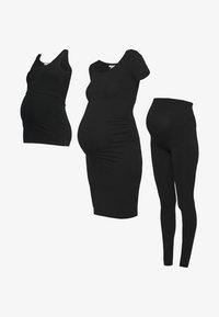 Anna Field MAMA - 3 PACK leggings - dress - nursing top - Legging - black - 7