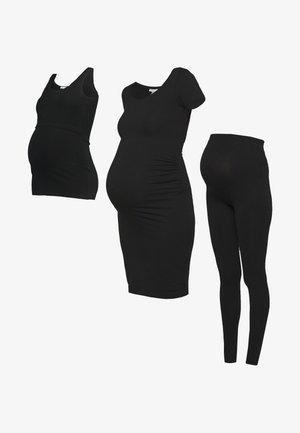 3 PACK leggings - dress - nursing top - Leggings - black