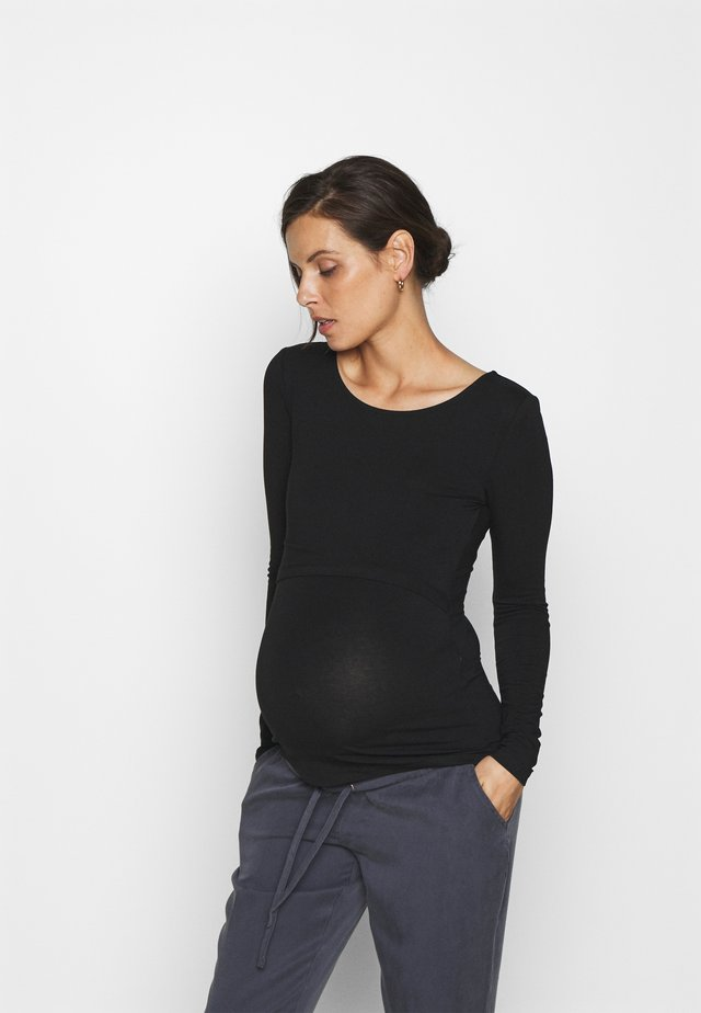 NURSING LONG SLEEVE TOP - Top s dlouhým rukávem - black