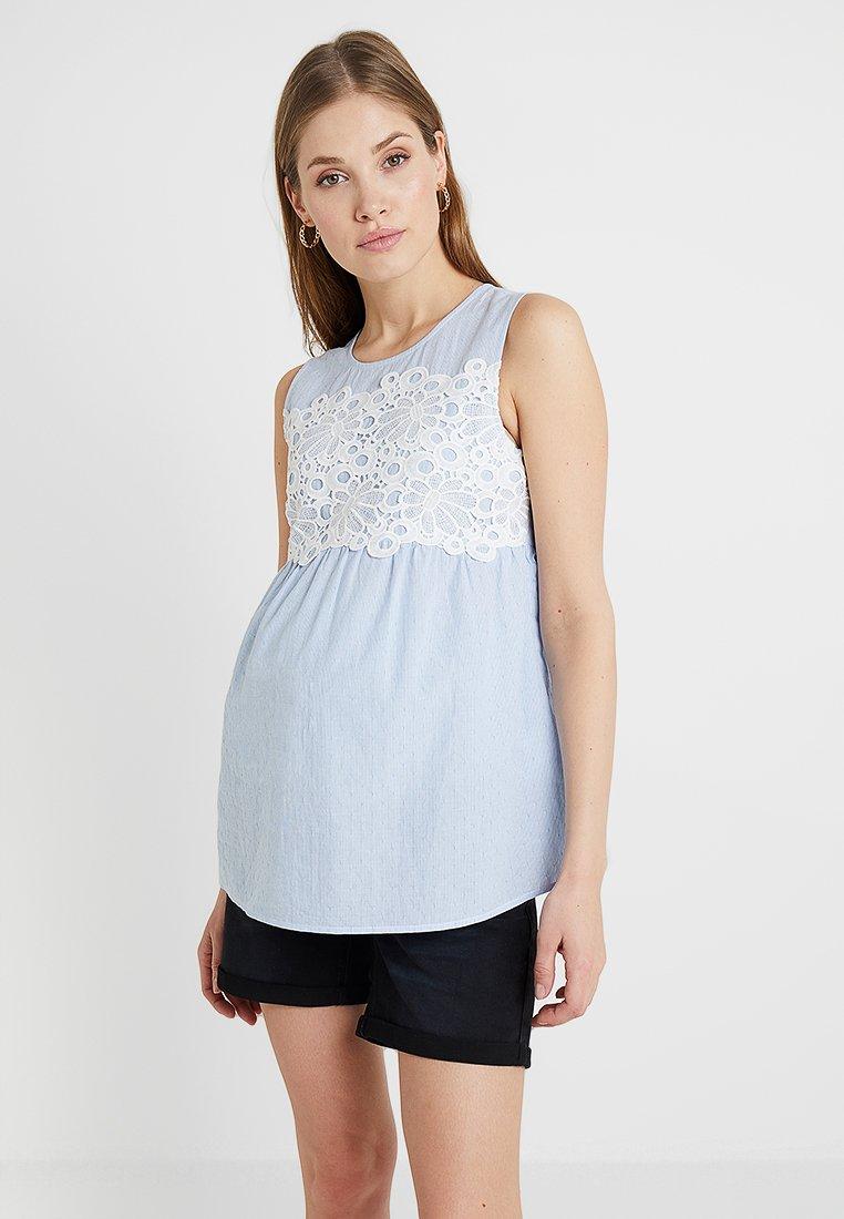 Anna Field MAMA - Camicetta - white/light blue