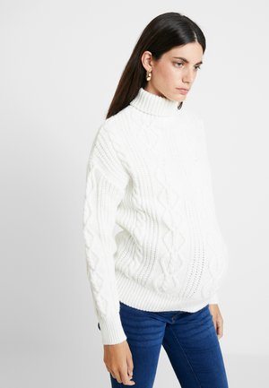 Stickad tröja - off-white