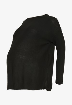 BATWING JUMPER BOAT - Jumper - black