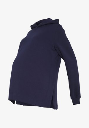 NURSING SIDE SPLIT HOODIE - Luvtröja - maritime blue