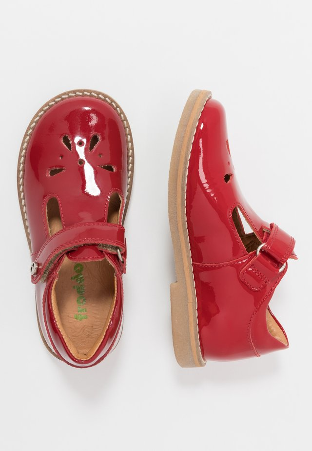 EVIA MEDIUM FIT - Baleríny s páskem - red patent