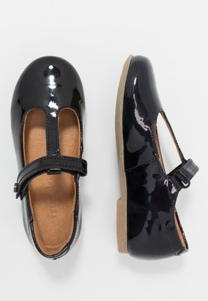 FIONAS T-BAR NARROW FIT - Ankle strap ballet pumps - black