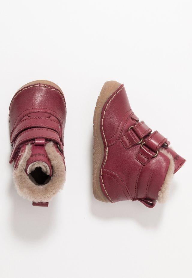 Lær-at-gå-sko - bordeaux