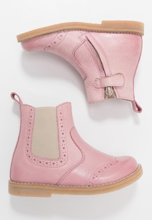 CHELYS BROGUE NARROW FIT - Classic ankle boots - pink