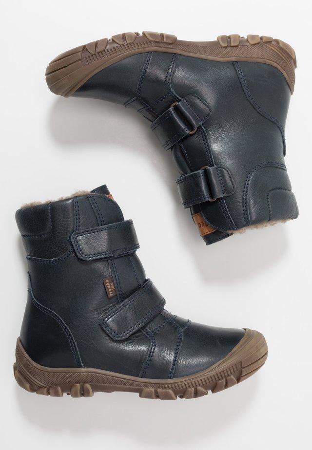 WARM LINING - Winter boots - dark blue
