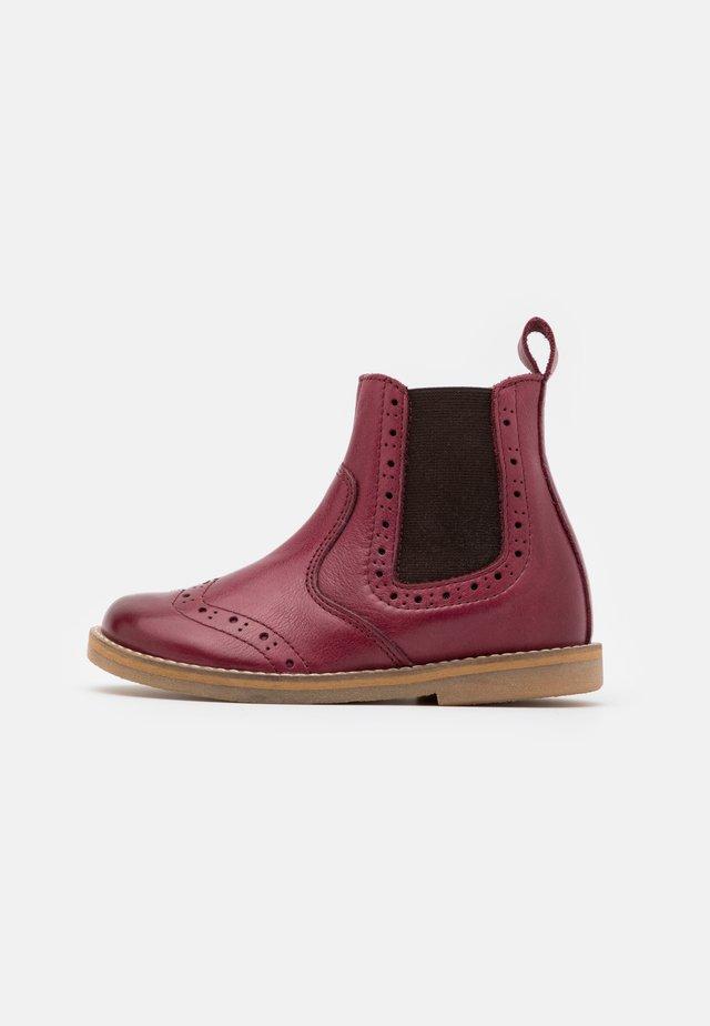 CHELYS BROGUE NARROW FIT - Classic ankle boots - bordeaux