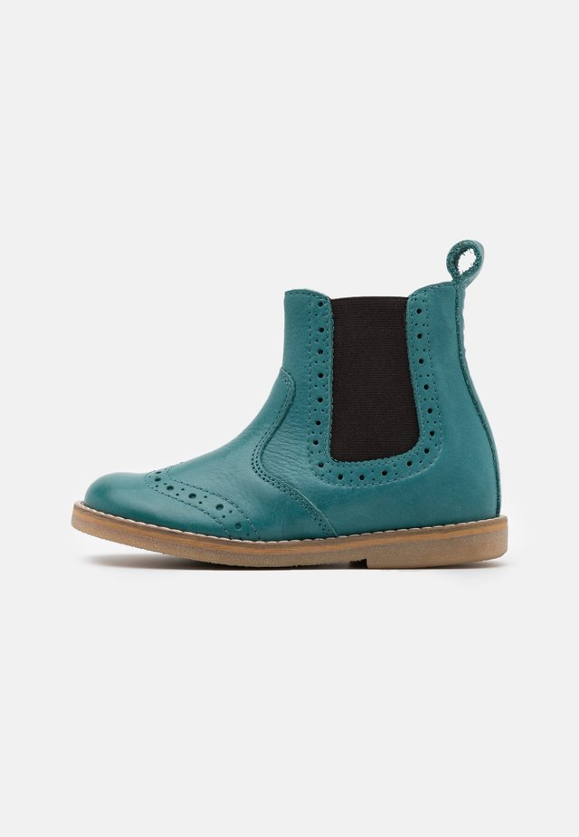 CHELYS BROGUE NARROW FIT - Classic ankle boots - petroleum