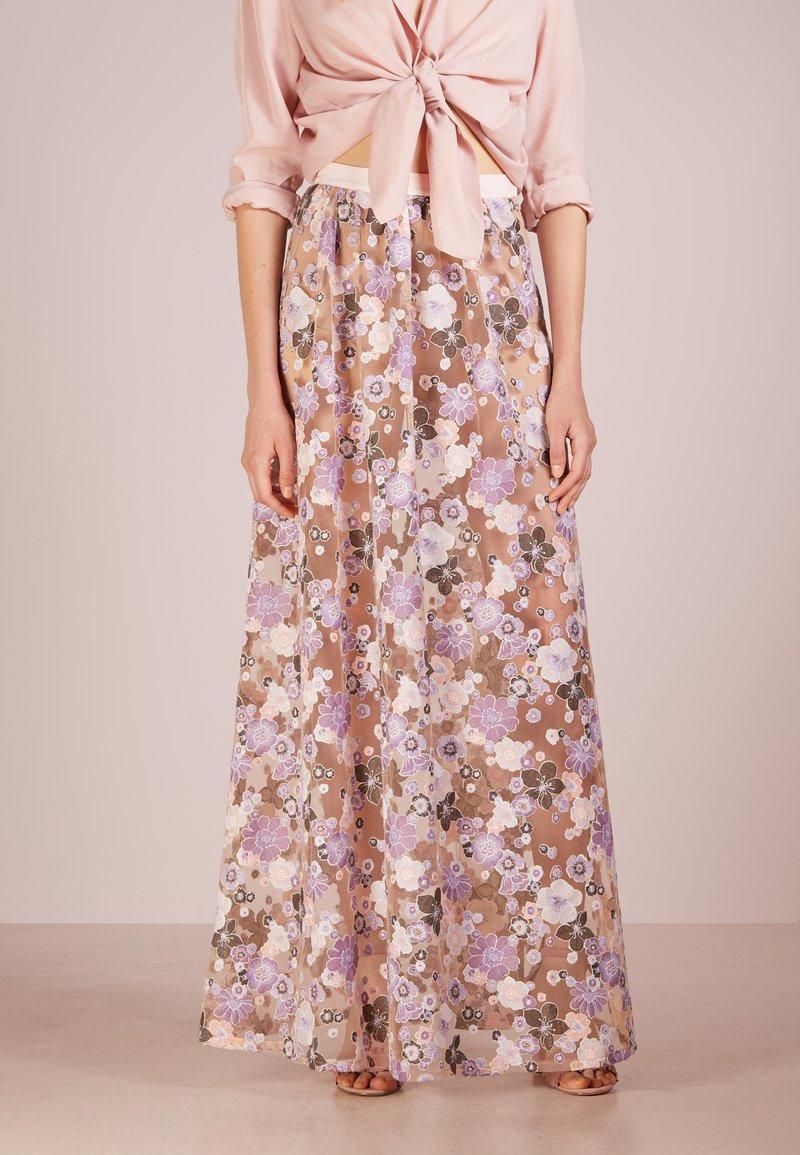 For Love & Lemons - POSY EMBROIDERY MAXI SKIRT - Maxi skirt - morning bloom