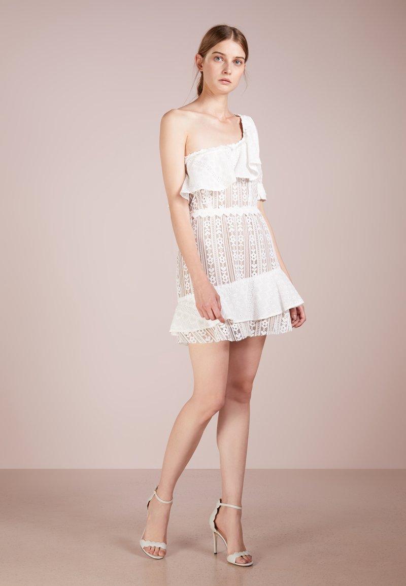 For Love & Lemons - LOVEBIRD MINI DRESS - Korte jurk - white