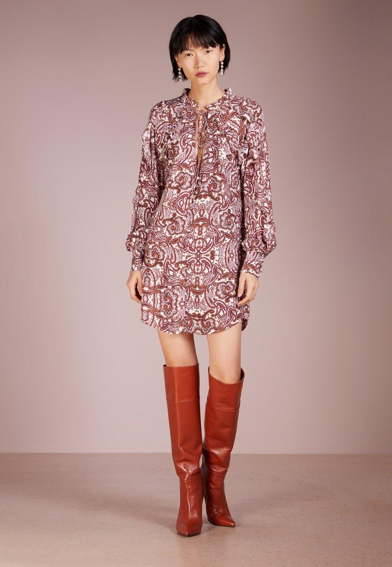 For Love & Lemons - ROMY BUTTON UP DRESS - Day dress - lilac