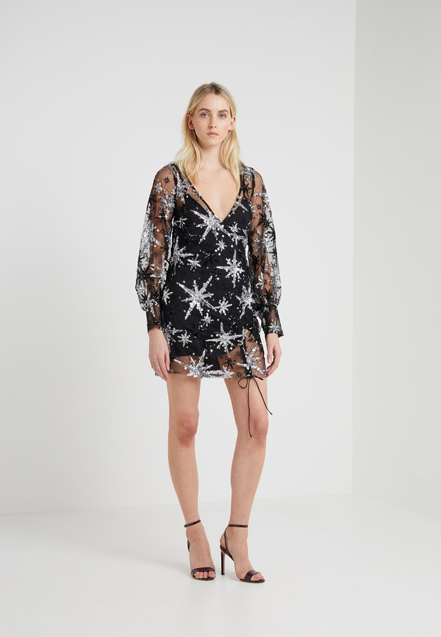 STARDUST MINI DRESS - Vestito elegante - black
