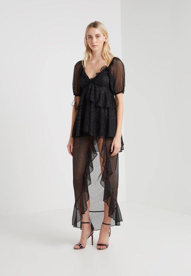 PRISCILLA DRESS - Vestito lungo - black glitter