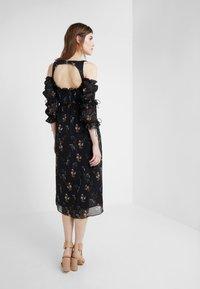 For Love & Lemons - NICOLA MIDI DRESS - Robe d'été - black floral - 2