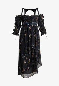 For Love & Lemons - NICOLA MIDI DRESS - Robe d'été - black floral - 4