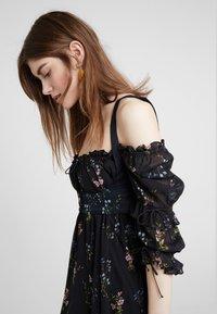 For Love & Lemons - NICOLA MIDI DRESS - Robe d'été - black floral - 5