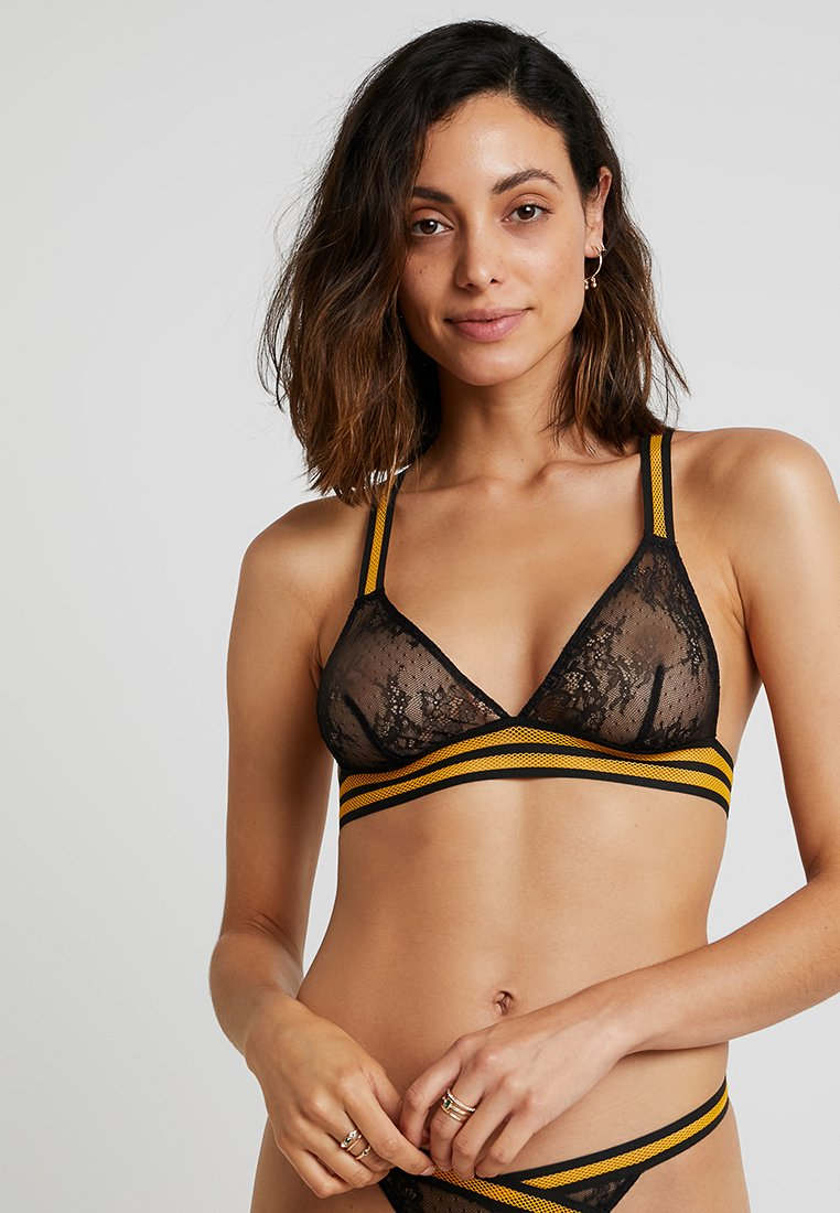 For Love & Lemons - JULIENNE TRIANGLE BRA - Triangle bra - noir