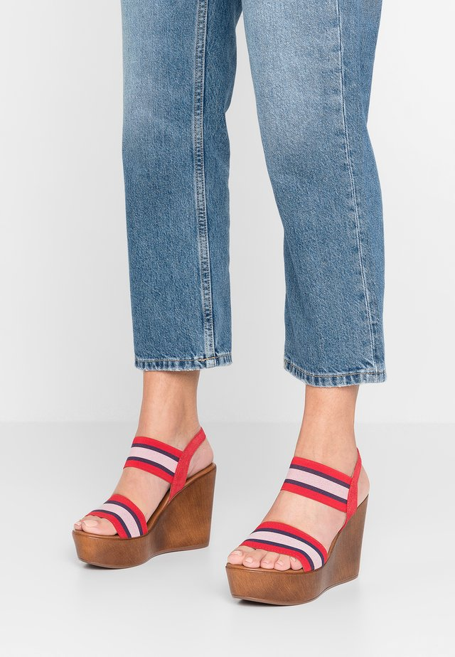 High Heel Sandalette - multicolor/rosso