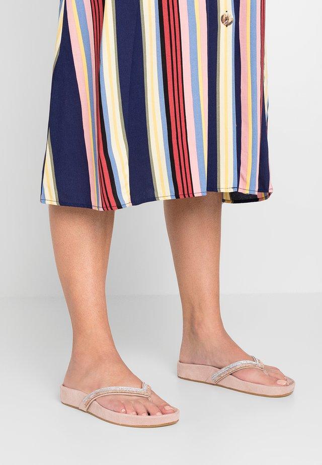 LINOSA - T-bar sandals - carne