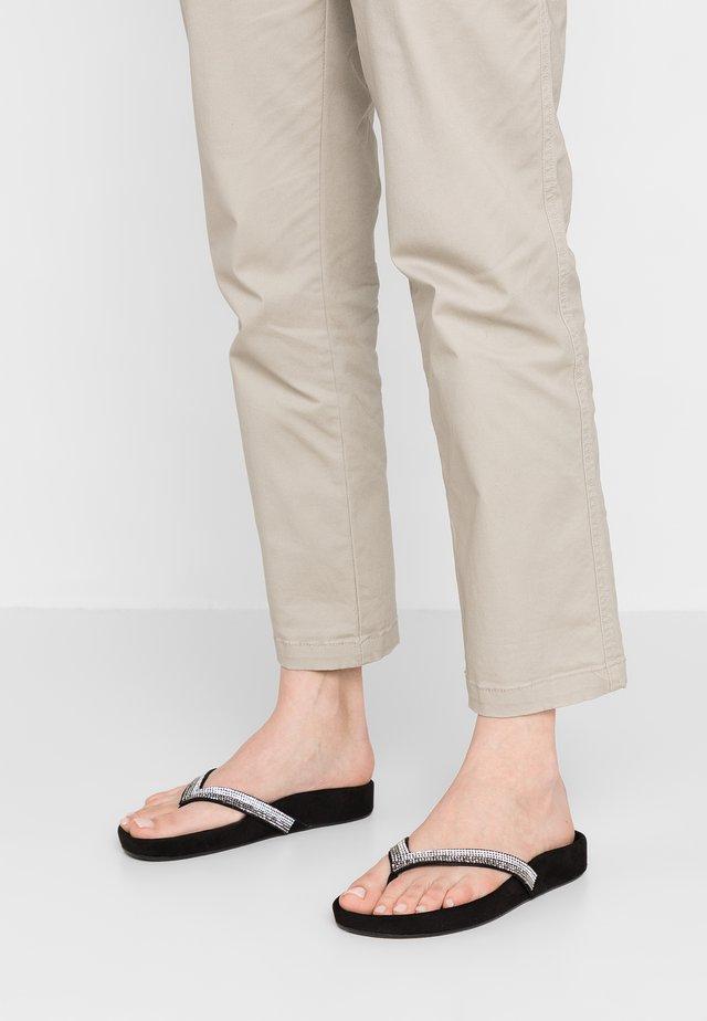LINOSA - T-bar sandals - nero