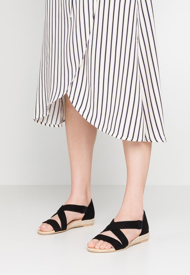 ALBA - Wedge sandals - nero