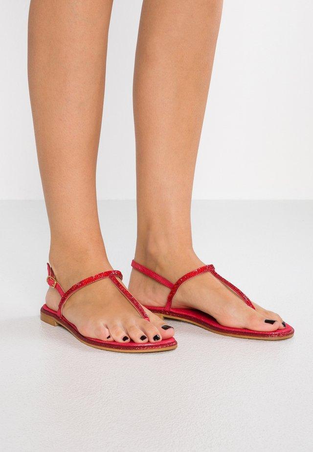 KARIM - T-bar sandals - rosso