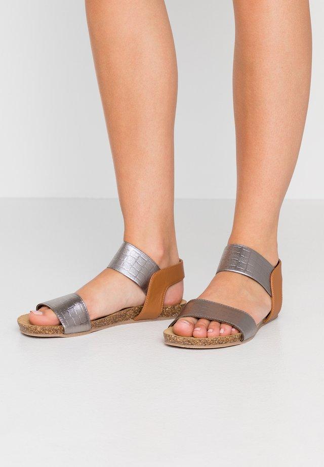 CARIBE - Sandals - cocco/gun metal