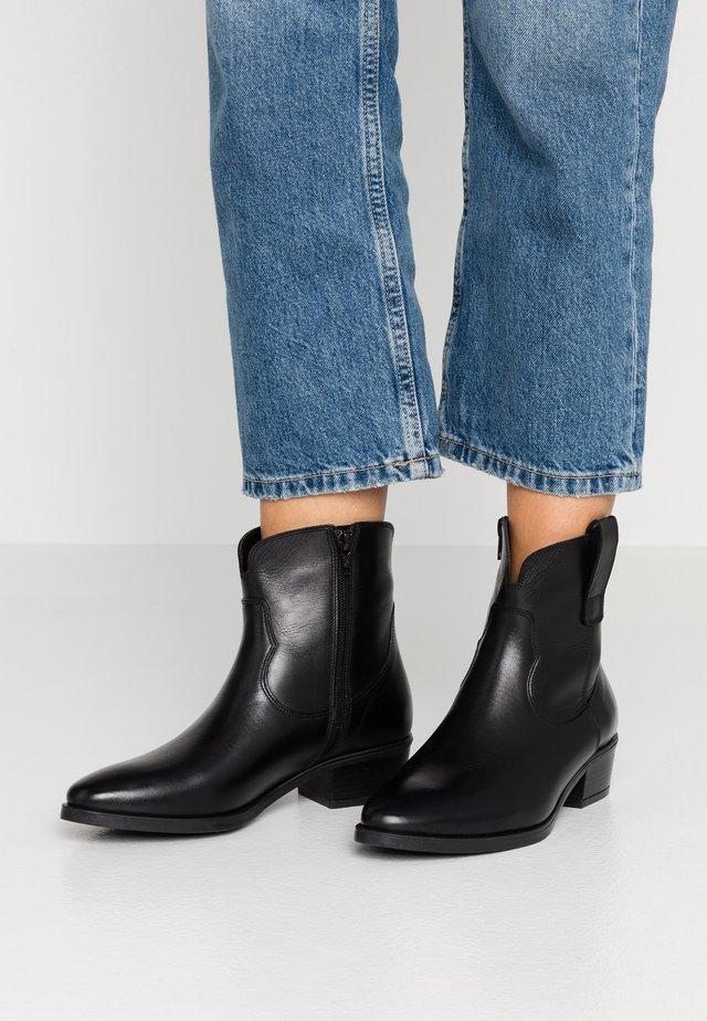 NATHAN - Cowboy/biker ankle boot - nero