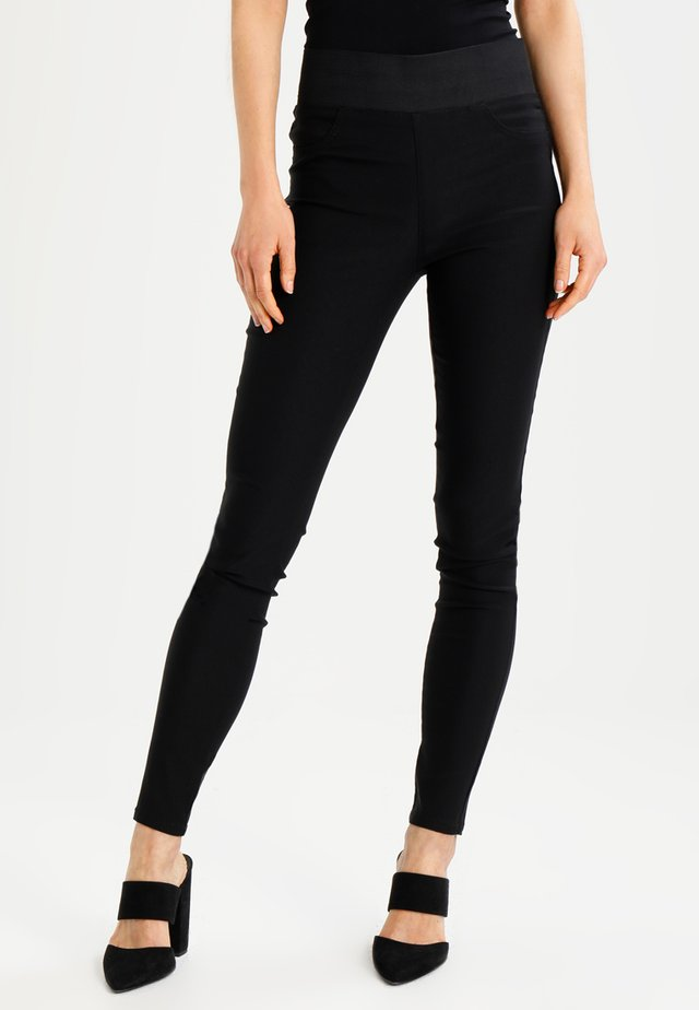 SHANTAL POWER - Pantalon classique - black