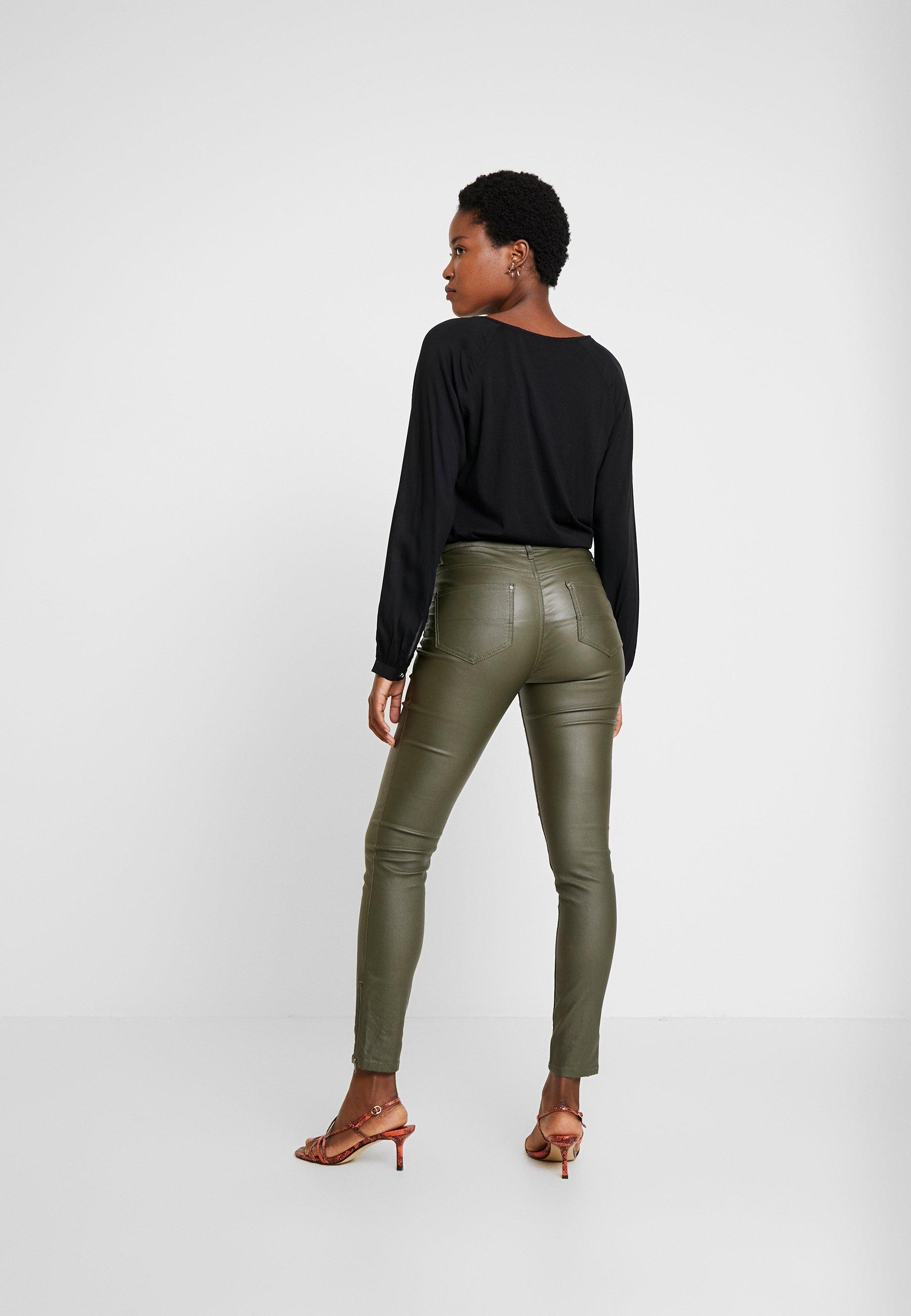 Freequent AIDA COOPER - Spodnie materiałowe - olive night