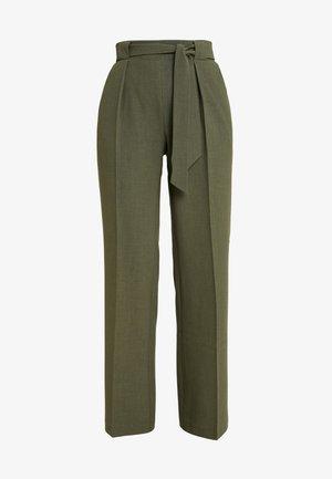 Trousers - olive night melange