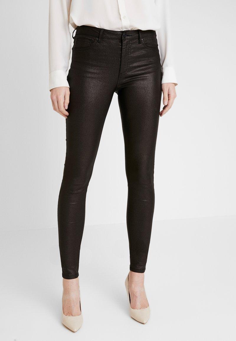 Freequent - AIDA-PA-TWILL SHINE - Trousers - black