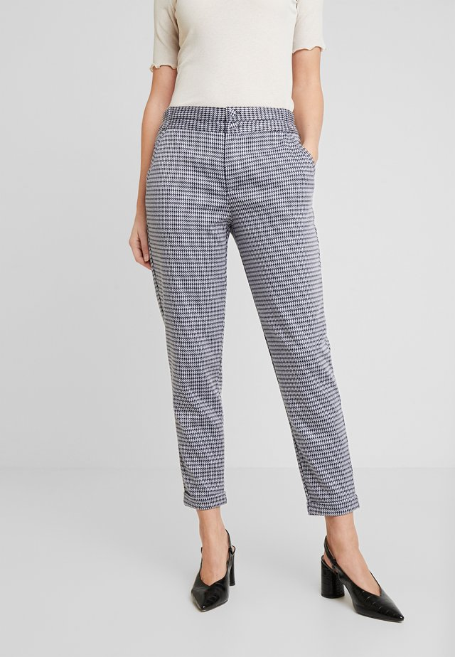 NANNI ANKLE PEPIT - Trousers - navy