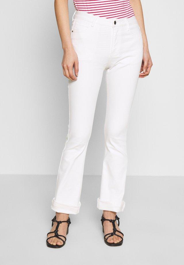 AIDA NONZIP BOOT - Trousers - off white